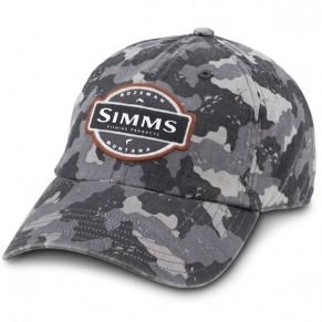 6-Panel SB Cap Pro Guide Camo Grey кепка Simms - Фото