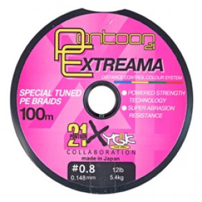 Extreama, 0.205mm, 20lb, 9kg, 100m, multicolor, X4 шнур Pontoon21 - Фото