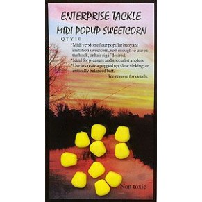 Midi Pop Up Sweetcorn Yellow Unflavoured насадка Enterprise Tackle - Фото