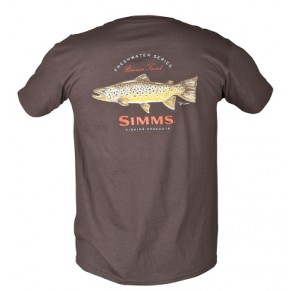 T-Shirt Currier Brown Trout SS Ch. Brown L футболка - Фото