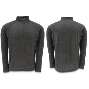Downunder Merino Mid Zip Top Charcoal L блуза Simms - Фото