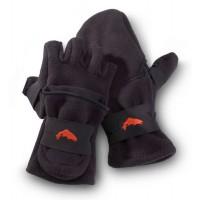 Freestone Foldover Mitt Black XL перчатки Simms