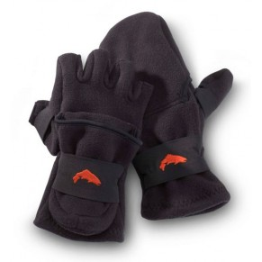 Freestone Foldover Mitt Black XL перчатки Simms - Фото