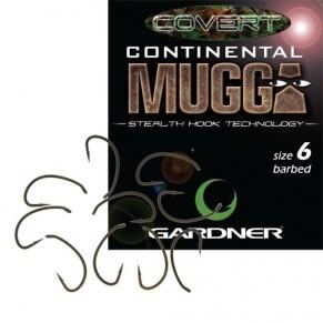 Covert Continental Mugga size 2 10шт крючок Gardner - Фото