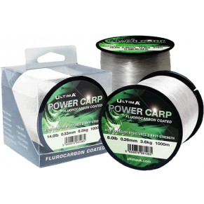 Power Carp Fluorocarbon Coated 0.45mm 1000m леска Ultima - Фото