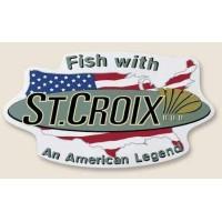 St. Croix НАКЛЕЙКА БОЛЬШАЯ 11''X6'' Fish W / An American Legend