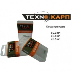 Кольца крючковые d 3,1 10 шт Texnokarp - Фото