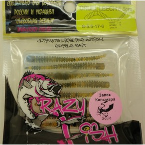 Cruel Leech силикон  8-5.5-17-6 кальмар Crazy Fish - Фото