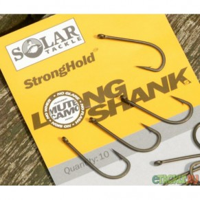 Long Shank Strong Hold Hooks 2 крючок Solar - Фото