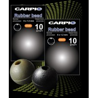 Бусина резиновая / rubber bead black RB-0002
