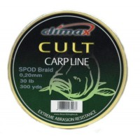 CULT Spod Braid 0,16mm 20lb 274 м желтый шнур Climax