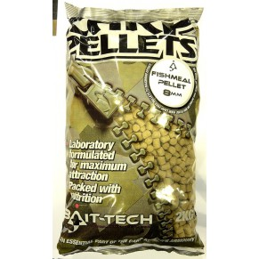 Fishmeal Carp Feed Pellets 8mm 2kg пеллетс Bait-Tech - Фото