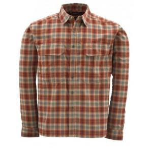 Coldweather Shirt Redwood Plaid M рубашка Simms - Фото