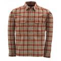 Coldweather Shirt Redwood Plaid L рубашка Simms