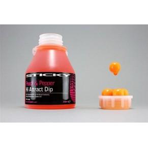 Peach&Pepper Hi-Attract Dip 1*250ml Glug Tub Sticky Baits - Фото