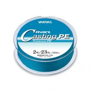 Avani Casting PE, Blue, 200m, #2 23 LB шнур Varivas - Фото