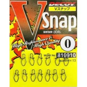 V Snap 0 30lb 13шт застежка Decoy - Фото