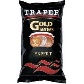 Gold 1кг Expert черная прикормка Traper - Фото