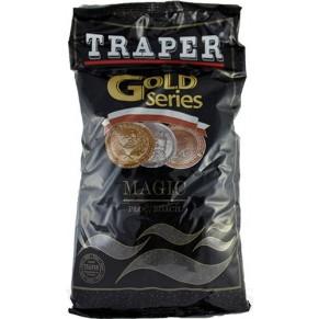 Gold 1кг Magic черная прикормка Traper - Фото