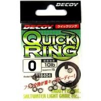 Qucik Ring R-7 #0, 15шт. кольцо заводное Decoy