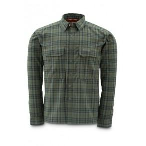 Coldweather Shirt Black Olive Plaid L рубашка Simms - Фото