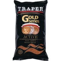 Gold 1кг Active черная прикормка Traper