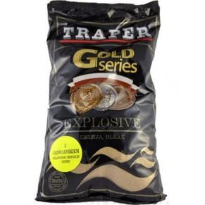 Gold 1кг Explosive желтая прикормка Traper - Фото