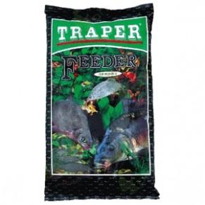 Sekret 1кг фидер черная прикормка Traper - Фото