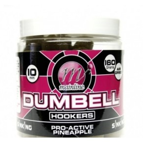 Dumbell Hookers Pro Acvtive Pineapple 100g бойлы Mainline - Фото