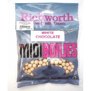 03-18 White Chocolate 10mm Midi Boilies, Handy Packs 225g бойлы Richworth - Фото