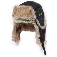 302786-L шапка-ушанка на искуств. меху чёрн...