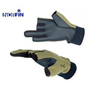 703055-L перчатки флис-непреновые ветрозащитные Norfin - Фото