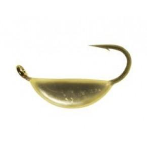 Мормышка Shark Супер-банан 0,19г диам. 1,5/SS крючок D18 гальваника ц:золото - Фото