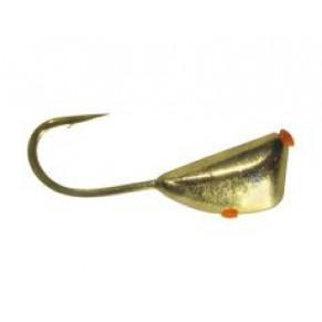 Мормышка Shark Дрейссена с отверствием 0,55г диам. S/030 крючок D14 гальваника ц:золото - Фото