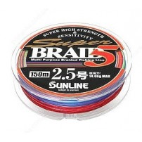 Super Braid 5 150m #0.6/0.128мм 4кг шнур Sunline