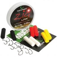 Zig-Rig Session Pack 8lb набор Gardner