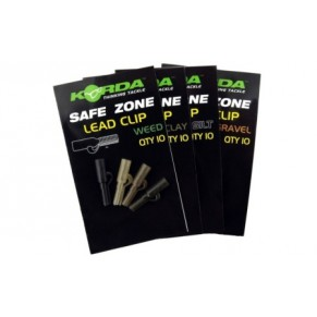 Safe Zone Lead Clips Weedy Green Pack of 10 клипса Korda - Фото