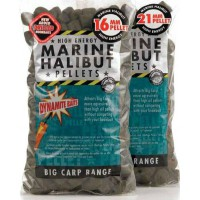 Marine Halibut Pellets 16mm (Pre-Drilled) пеллетс Dynamite Baits