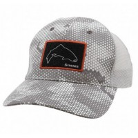 High Crown Patch Trucker Hex Camo Boulder кепка Simms