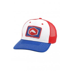 Patch Trucker Cap White кепка Simms - Фото