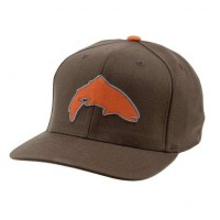 Flexfit Snap Back Cap Root Trout кепка Simms