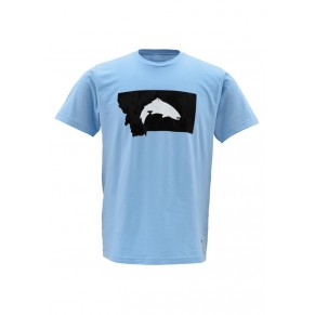 T-Shirt Fish Montana SS Light Blue L футболка Simms - Фото