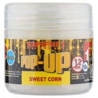 Pop-Up F1 Sweet Corn 12mm 15gr бойлы Brain