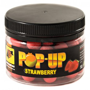 Pop-Ups Strawberry 10мм 50гр бойлы CC Baits - Фото