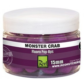 Fluoro Pop Ups Monster Crab with Shellfish Sense Appeal 15mm бойлы Rod Hutchin - Фото