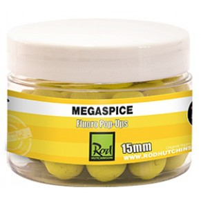 Fluoro Pop Ups Megaspice with Natural Ultimate Spice Blend 15mm бойлы Rod Hutchinson - Фото