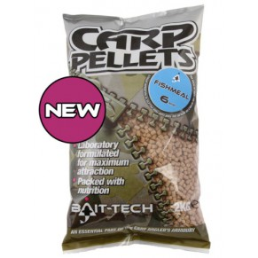 Halibut Carp Feed Pellets 6mm 2kg пеллетс Bait-tech - Фото