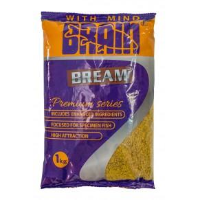 Premium Bream 1kg жёлтая прикормка Brain - Фото