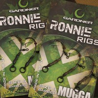 Ronnie Rigs Size 4 Barbed монтаж Gardner