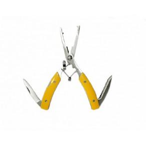Плоскогубцы с функцией Split ring, обжим трубочек, два лезвия в рукояти 160мм Super Tool - Фото
